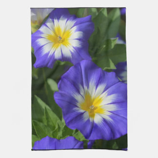 Blue and Yellow Morning Glories Kitchen Towel