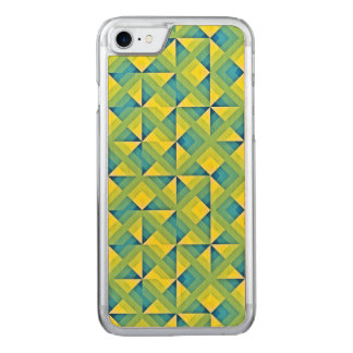 Blue and Yellow Mosaic Carved iPhone 8/7 Case