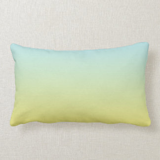 """Blue And Yellow Ombre"" Lumbar Pillow"