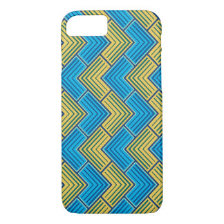 Blue and Yellow Pattern iPhone 7 Case