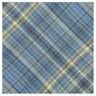 Blue and yellow plaid fabric