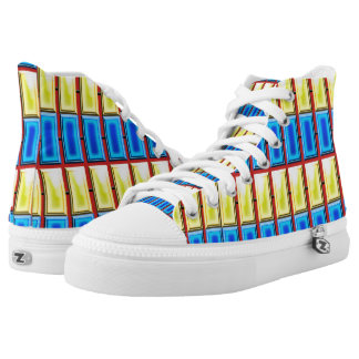Blue and Yellow Rectangles Shoes