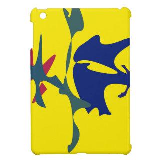Blue and yellow spots iPad mini case