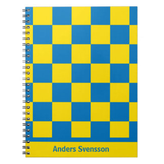 Blue and yellow - Swedish flag Notebook