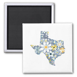 Blue and Yellow Texas Floral Magnet