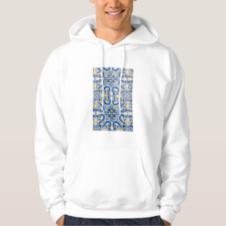 Blue and yellow tile, Portugal Hoodie