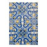 Blue and yellow tile, Portugal Poster