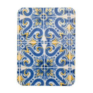 Blue and yellow tile, Portugal Rectangular Photo Magnet