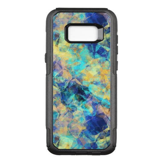 Blue and Yellow Tissue Montage OtterBox Commuter Samsung Galaxy S8+ Case