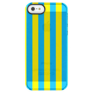 Blue and Yellow Vertical Stripes Clear iPhone SE/5/5s Case