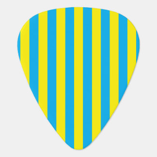 Blue and Yellow Vertical Stripes Guitar Pick