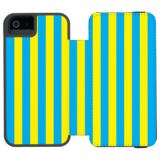 Blue and Yellow Vertical Stripes Incipio Watson™ iPhone 5 Wallet Case