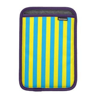 Blue and Yellow Vertical Stripes iPad Mini Sleeve
