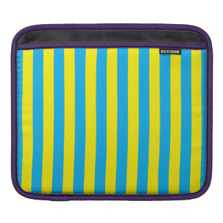 Blue and Yellow Vertical Stripes iPad Sleeve