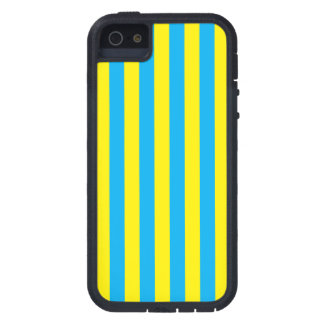 Blue and Yellow Vertical Stripes iPhone 5 Covers