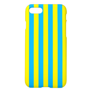 Blue and Yellow Vertical Stripes iPhone 8/7 Case