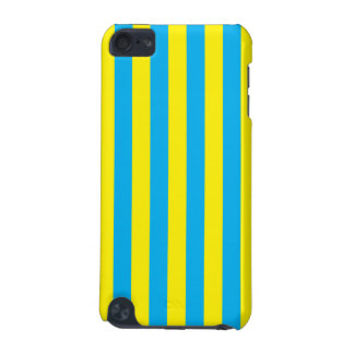 Blue and Yellow Vertical Stripes iPod Touch (5th Generation) Cover