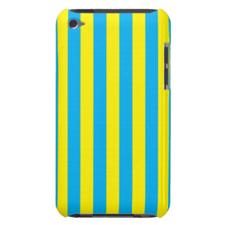 Blue and Yellow Vertical Stripes iPod Touch Covers