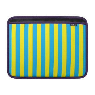 Blue and Yellow Vertical Stripes MacBook Air Sleeves