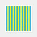 Blue and Yellow Vertical Stripes Paper Napkin