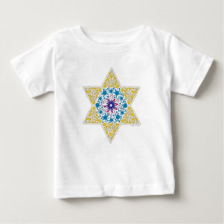Blue and Yellow Vintage Star of David - Magen Davi Baby T-Shirt