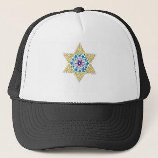 Blue and Yellow Vintage Star of David - Magen Davi Trucker Hat