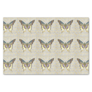 Blue and Yellow Vintage Style Butterfly Tissue Paper