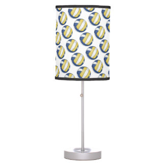 Blue and Yellow Volleyball Patterns Table Lamp