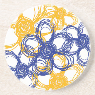 Blue and Yellow Wild Flowers Coaster
