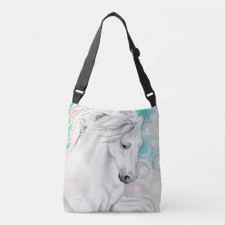 Blue Andalusian Horses Crossbody Bag