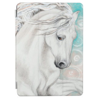 Blue Andalusian Horses iPad Air Cover