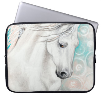 Blue Andalusian Horses Laptop Sleeve