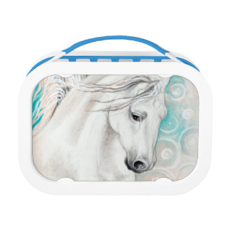 Blue Andalusian Horses Lunch Box