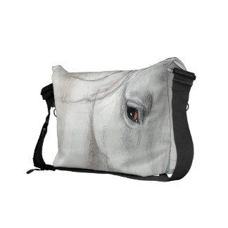 Blue Andalusian Horses Messenger Bags