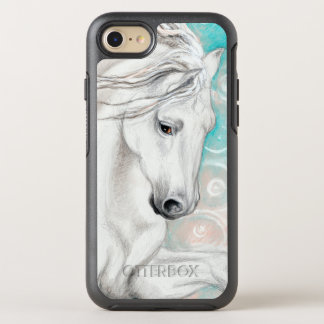 Blue Andalusian Horses OtterBox Symmetry iPhone 8/7 Case