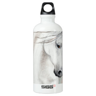 Blue Andalusian Horses Water Bottle