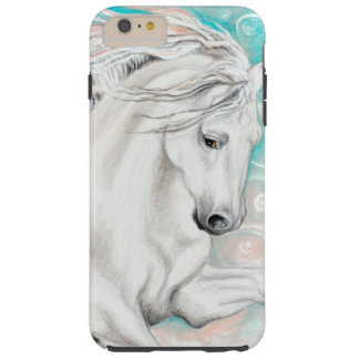 Blue Andalusian Stallion Horse Tough iPhone 6 Plus Case