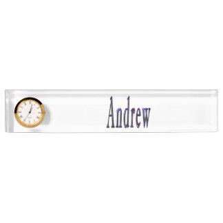 Blue Andrew Name Logo, Name Plate