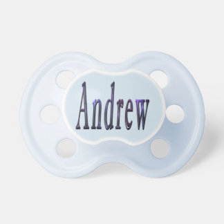 Blue Andrew Name Logo, Pacifier