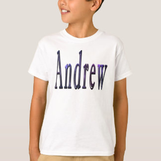 Blue Andrew Name Logo, T-Shirt