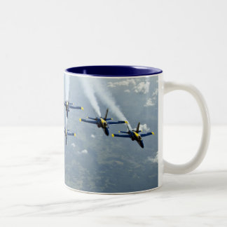 Blue Angel Fighter Jets Two-Tone Coffee Mug