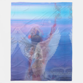 Blue Angel Frozen Artwork by Deprise Fleece Blanket