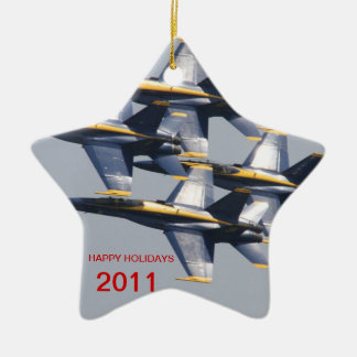 Blue Angel Holiday Ornaments by Todd Wakefield