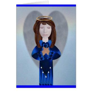 Blue Angel in Prayer Card
