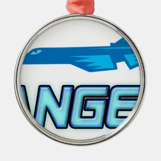 Blue Angel Metal Ornament
