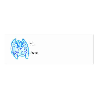 Blue Angel Of Peace Gift Tag Mini Business Card