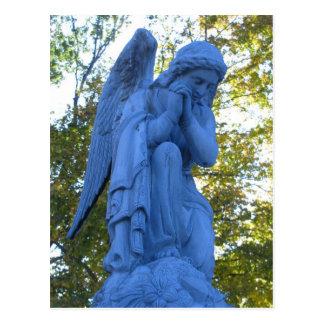 Blue Angel Zink Statue postcard