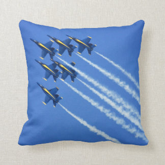 Blue Angels flyby during 2006 Fleet Week 2 Throw Pillow