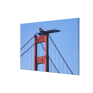 Blue Angels flyby during 2006 Fleet Week 3 Stretched Canvas Print