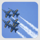 Blue Angels flyby during 2006 Fleet Week Square Sticker
